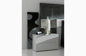 Fun Nightstand Glossy White Lacquered