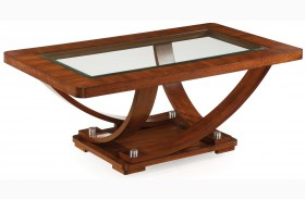 Pavilion Medium Brown Wood Rectangular Cocktail Table