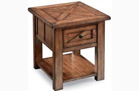 Harper Farm Warm Pine Rectangular End Table