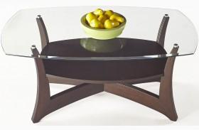 Abacoa Dark Walnut Rectangular Cocktail Table