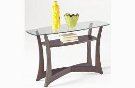 Abacoa Dark Walnut Sofa/Console Table