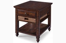 Cottage Lane Coffee Wood Rectangular End Table