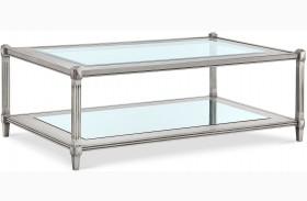 Platinum Metallic Silver Rectangular Cocktail Table