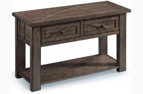 Garrett Weathered Charcoal Wood Rectangular Sofa Table