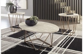 Tarica Two Tone Table Set of 3