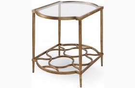 Bancroft Gold Leaf Rectangular End Table