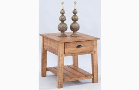 Willow Distressed Pine Rectangular End Table