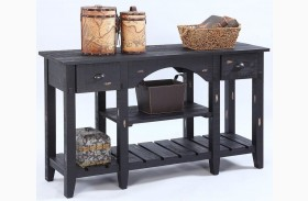 Willow Distressed Black Console Table