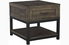 Johurst Grayish Brown End Table