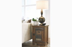 Isabella Farmhouse Timber Chairside End Table