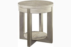Urlander Whitewash End Table