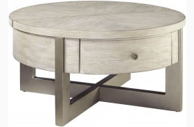 Urlander Whitewash Coffee Table Lift Top