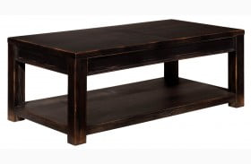 Gavelston Black Rectangular Cocktail Table