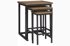 Traxmore Brown Nesting End Tables Set of 3