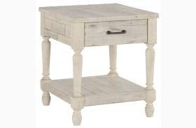 Shawnalore White Rectangular End Table