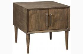 Kisper Dark Brown Square End Table