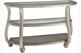Coralayne Metallic Silver Sofa Table