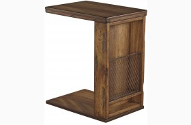 Tamonie Medium Brown Chair Side End Table