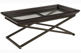 Florentown Dark Brown Rectangular Cocktail Table