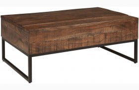 Hirvanton Brown Lift Top Cocktail Table