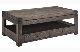 Burladen Grayish Brown Rectangular Lift Top Cocktail Table