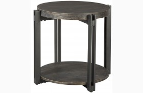 Winnieconi Black Round End Table
