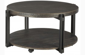 Winnieconi Black Round Cocktail Table