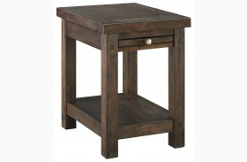 Windville Dark Brown Chairside End Table