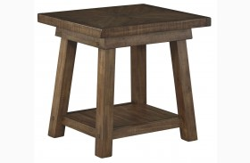 Dondie Rustic Brown Rectangular End Table