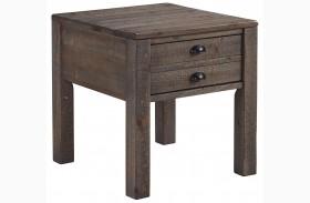 Keeblen Grayish Brown Rectangular End Table