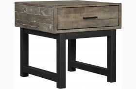 Mondoro Gray and Brown Square End Table