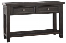Townser Grayish Brown Sofa Table