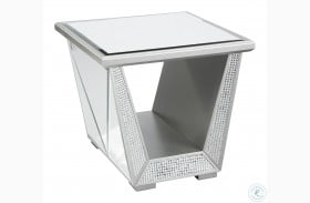 Fanmory Silver End Table