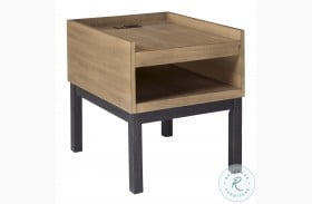 Fridley Brown And Black End Table