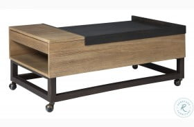 Fridley Brown And Black Lift Top Coffee Table