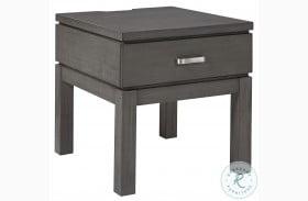 Caitbrook Gray End Table