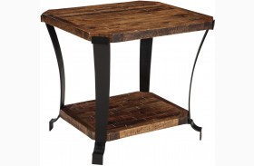 Taddenfeld Medium Brown Rectangular End Table
