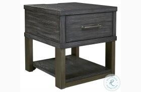 Forleeza Dark Gray End Table