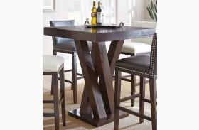 Tiffany Espresso Cherry Square Bar Table