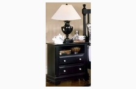The Cottage Collection Black 2 Drawer Commode