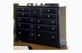 The Cottage Collection Black 9 Drawer Triple Dresser