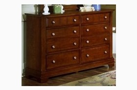 The Cottage Collection Cherry Double 6 Drawer Dresser