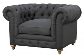 Oxford Gray Linen Chair