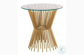 Grace Gold Glass Side Table