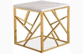 Gayle Gold End Table