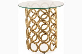 Margo Gold End Table