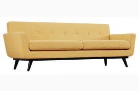 James Mustard Yellow Linen Sofa