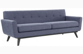 James Blue Linen Sofa