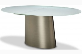 Trance Halsted Gray Oval Extendable Dining Table