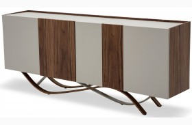 Trance White and Brown Sideboard